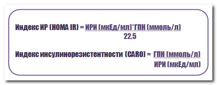 индекс инсулинорезистентности homa ir