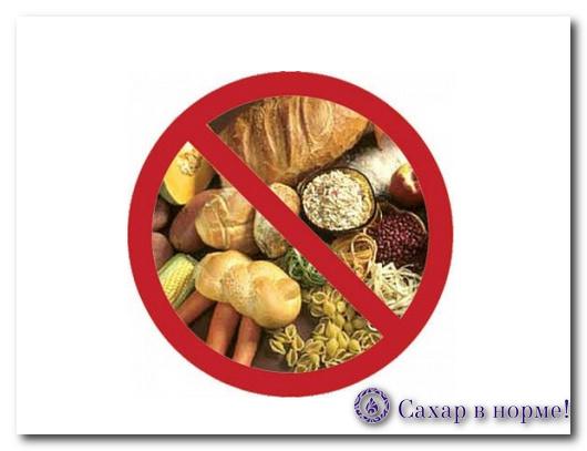 Безуглеводная диета при сахарном диабете 2 типа меню