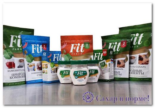 Фит парад - сахарозаменитель, состав и свойства