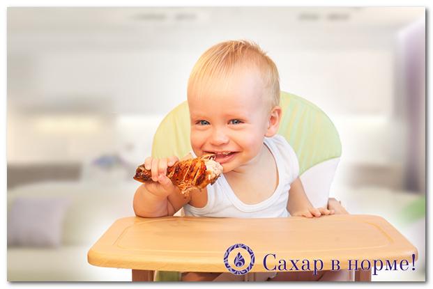 питание детей при сахарном диабете