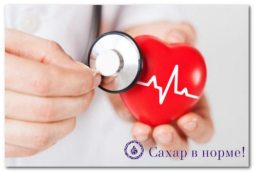 Какие бывают поражение сердца при сахарном диабете?