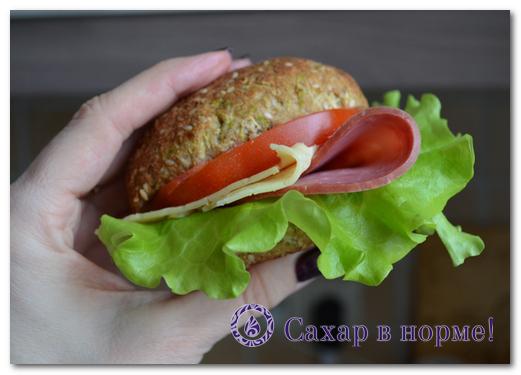 Низкоуглеводные булочки для сендвича (пошагов