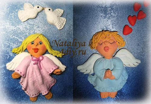 ангелочки солёное тесто копия