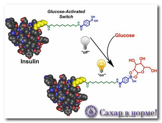 модифицированная молекула инсулина