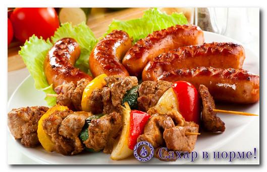 шашлыки и колбаски