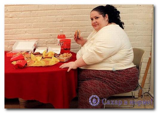 толстая женщина ест в макдоналдсе