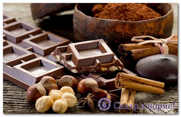 горький шоколад при диабете 2 типа