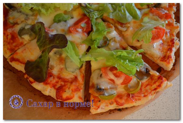 Как испечь низкоуглеводную пиццу