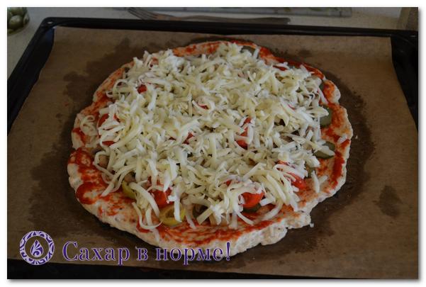 безуглеводную пиццу как приготовить